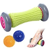 TOBREFE Plantar Fasciitis Foot Roller Massage for Back Pain and Deep Tissue Trigger Point Recovery Tight Muscle Hand Leg Back Pain Therapy Plantar Fasciitis Reflexology Myofascial Acupressure Release