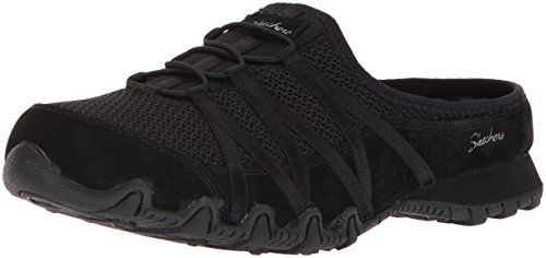 Skechers Women's Bikers - Fan Club - Sporty Slip-on Mesh-Bungee Mule, Relaxed Fit -