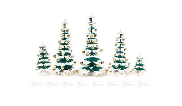 H=ca 12,5 cm NEU Erzgebirge Holzbaum Weihnachtsbaum 3 Bäume Verschiedene Bäume
