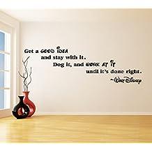 x cm vinilo para pared frase hacer una buena ideaperro trabajo