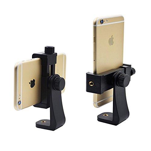 Universal Smartphone Stativ Adapter, apore Handy Halterung Adapter für iPhone/Samsung Galaxy/Google Nexus, Anwendung auf 1/4–20Stativ, Einbeinstativ, Selfie Stick