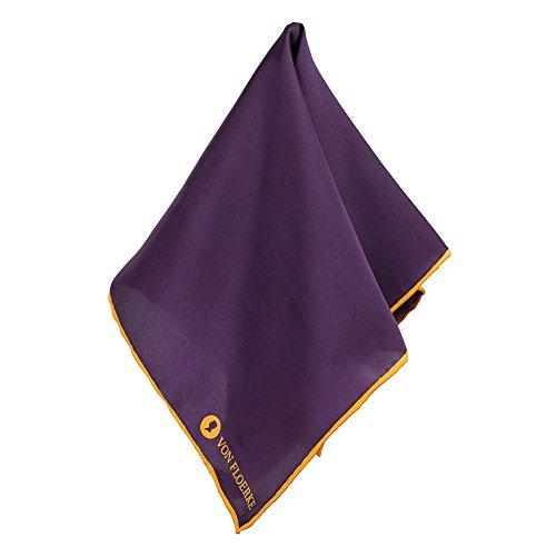 Handrolliertes Einstecktücher 100% Seide – 30x30cm – Purple Gelb – Für Anzug und Business – Hochwertige Herren Pochette/Kavalierstuch by VON FLOERKE
