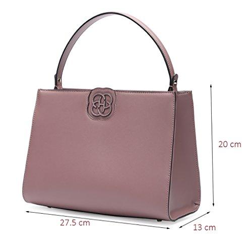 Sac à main en peau de vache rétro unique sac à bandoulière Simple Ladies Bag ( couleur : Pink-purple ) Pink-purple