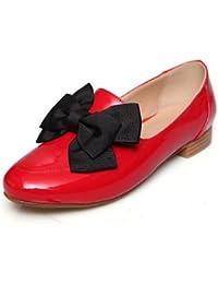 ZQ gyht Zapatos de mujer-Tacón Bajo-Tacones-Tacones-Exterior / Oficina y Trabajo / Fiesta y Noche-Semicuero-Negro...