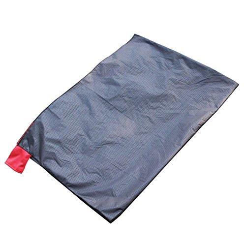 Camping Tapis de pique-nique pliante portable Poche Compact Jardin Moistureproof Pad Couverture imperméable ultraléger Yoga extérieur Noir