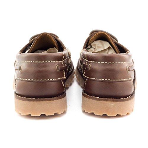 Boni Classic Shoes, Jungen Bootsschuhe Marone