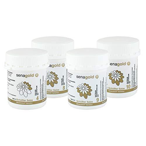 4 Salz (Schüssler Salze Stoffwechsel-Kur Nr. 4, 8, 9, 10 je 400 Tabletten (Abnehmkur))