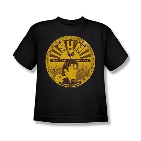 Sun Records - Elvis Volle Sonne Label Jugend T-Shirt in schwarz, X-Large (18-20), Black