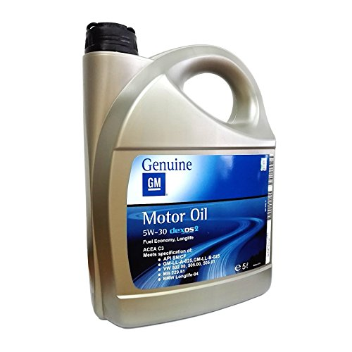 Olio motore auto GM Dexos2 5W30 ACEA C3 API SN/CF - Tanica 5 Lit