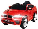 Actionbikes Motors Kinder Elektroauto BMW X6M F16 - Lizenziert - 90 Watt Motor - Eva Vollgummi Reifen - 2,4 Ghz Fernbedienung (Rot)