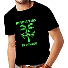 Männer T-Shirt The Revolution Is Coming - the Anonymous hackers mask