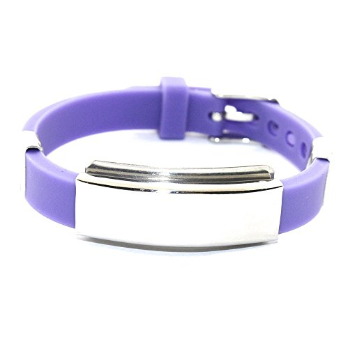 Bionic Ionen Silikon Sport Magnetarmband Energetix 4you 605 lila Purple gravierbar im Schmuckbeutel Größe S - XL