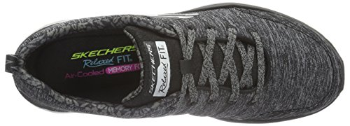 Skechers ValerisFull Force, Baskets Basses Femme noir (BKCC)