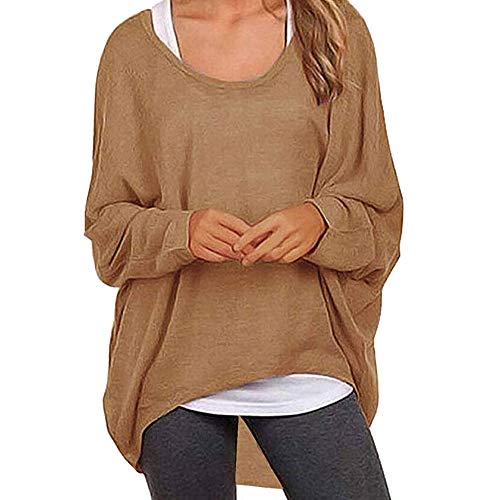 Damen Sweatshirt, Bluelucon Winter Loose Fit Batwing Langarm -