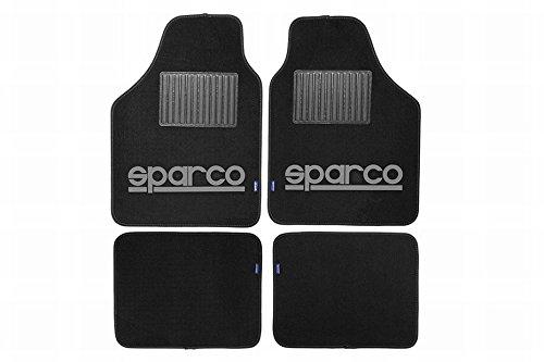 walser-sparco-spc1902-autoteppich-schwarz-grau