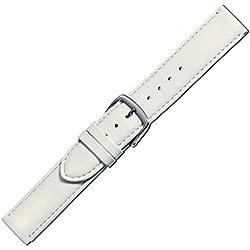 Herzog Uhrenband Beach Kalbleder Weiß Bandanstoss 20 mm Medium
