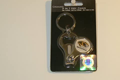 NCAA University of Missouri Mizzou Tigers 3-in-1 Key Chain Ring by Great American Product