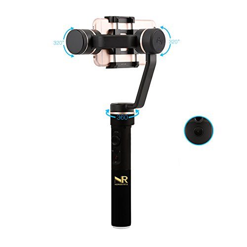 Normia Rita 3-axis Handheld Gimbal stabilizzatore per smartphone, iPhone 8Plus 7Plus, Samsung S7S8, con controllo app, Vertical shooting, Face Tracking