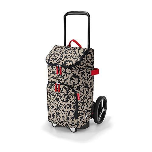 reisenthel citycruiser Rack + citycruiser Bag Set - moderner, robuster Einkaufstrolley aus Aluminium, leichtlaufende Rollen - große Einkaufstasche, 34x60x24 cm, 45 l, Baroque Taupe (7027)