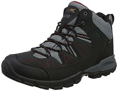Regatta Holcombe Mid, Chaussures de Randonnée Hautes Homme, Gris (Briar/Dkdenm), 41 EU