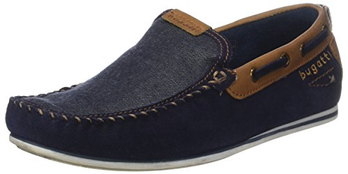 Bugatti 321469631469, Mocassins (Loafers) Homme Bleu (Dark Blue/ Blue)