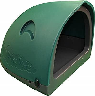 PetzPodz POD MEDIUM for puppy, dog and chicken designer green plastic dog crate, cave & den, dog kennel house igloo for indoor and outdoor use dog pen and dog home
