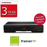 THOMSON THT740 DVB-T2 Receiver für digitales Antennenfernsehen mit freenet TV?FullHD, HDMI, USB, SCART, nur für DE geeignet,