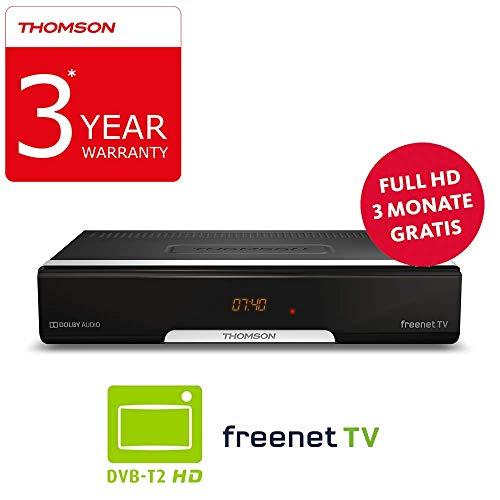 Thomson THT740 Terrestre Negro tV set-top boxes - Reproductor/sintonizador (Terrestre, DVB-T,DVB-T2, 576i,576p,720p,1080i,1080p, 4:3, 16:9, H.265, H.265,HEVC)