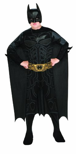 The Dark Knight Rises Batman Kostüm für Kinder/Jungen 5/6Yahre (Batman Dark Knight Kinder Kostüme)