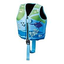 Beco 09639-008 Sealife Optrieshulp en zwemhulp verstelbaar met 3 drijflichamen zwemleervest, meerkleurig (blauw/groen), M