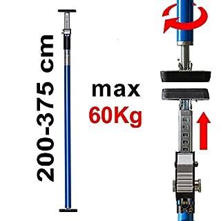 ALLEGRA AB360 Deckenstütze Profi Einhandstütze bis 60kg Baustütze Höhe 360cm Teleskopstütze Montagestütze