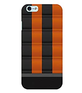 Citydreamz Black & Orange Square Pattern Hard Polycarbonate Designer Back Case Cover For Gionee S7