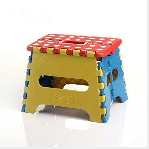 Yongan Tragbare Dicke Kunststoff Kinder Klappstuhl Outdoor-Aktivitäten-Tool Startseite Reisen Notwendigkeit(Zufällige Farbe)