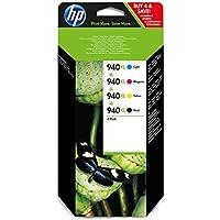 HP 940XL 4-pack High Yield Black/Cyan/Magenta/Yellow Original Ink Cartridges (C2N93AE)