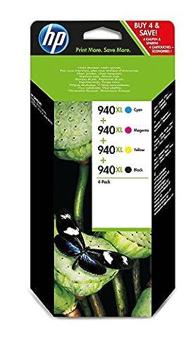 Calendrier Personnalise - HP 940XL Pack de 4 Cartouches d'Encre