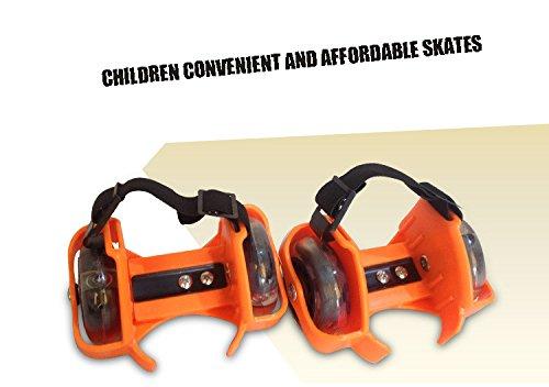 Gaorui Kinder Rollschuhe Rad Roller Cooly Verstellbare Skateboard Schuhe Flash-Blatt-Schuh-Bügel Grün