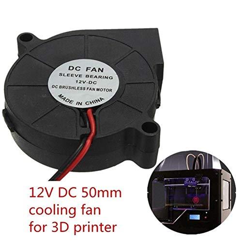 12V 3Pcs 3D-Drucker DC 50mm * 50mm Schlag Radial-Lüfter Treiber