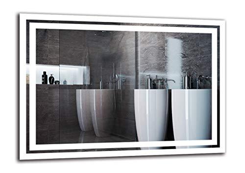Espejo LED Premium - Dimensiones del Espejo 70x50 cm - Espejo de baño con iluminación LED - Espejo...