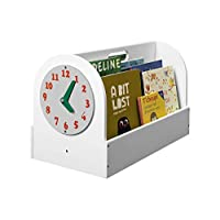 Tidy Books® - Book Box | Kids Bookcase | Play Clock | Books Storage | Wood | White | 35 x 55 x 31 cm | Eco Friendly | Handmade | The Original since 2004