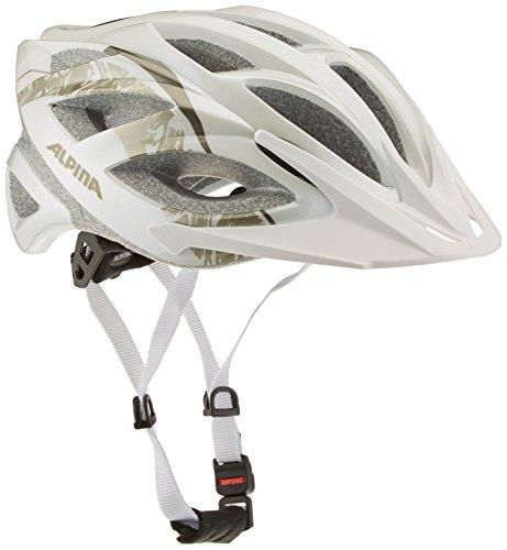 Alpina Seheos Fahrradhelm, White-Prosecco, 55-59 (White Helm Alpine)