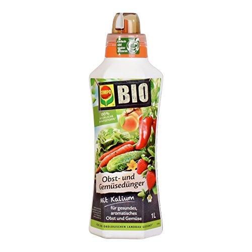 COMPO BIO Obst- und Gemüsedünger für alle Obst- und Gemüsesorten, Natürlicher Spezial-Flüssigdünger, 1 Liter (Bio-obst Und Gemüse)