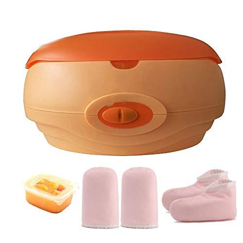 Calentador de parafina baño Cera de parafina Calenta muy Rápido +Juego botines aguantes+parafina 1000ml