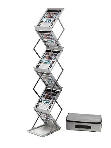 Deflecto 275x370x1500mm A4 Portrait Folding Literature Floor Stand -