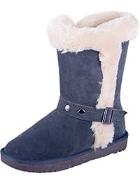 0fea861bea Almwerk Damen Winter-Stiefel Boots Schlupf-Stiefel aus Echtleder warm  gefüttert in verscheidenen Farben