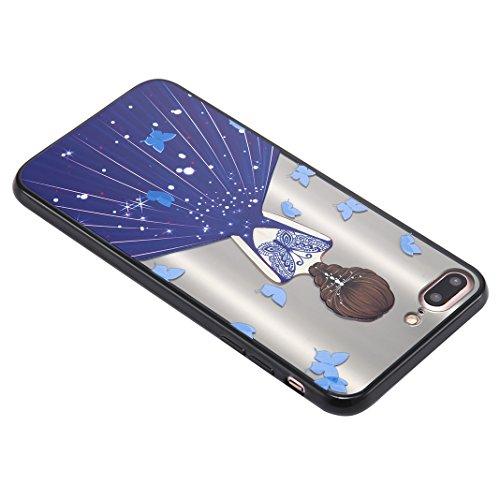 Coque iPhone 7 Plus Case, Silicone Housse iPhone 7 Plus apple Case Rosa Schleife® Etui iPhone 7 Plus TPU Gel de Silicone Ultra mince Cas Transparente Housse de Protection Back Cover Protective Shell M 11-Style