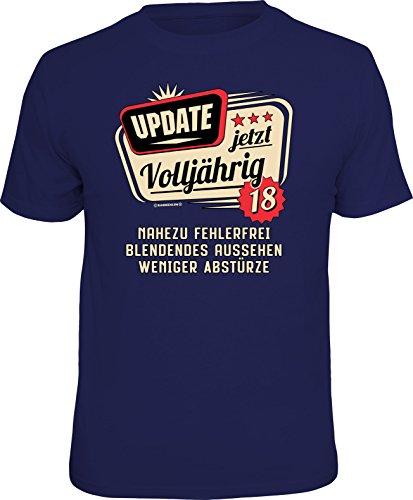 RAHMENLOS Original T-Shirt zum 18. Geburtstag: Update, jetzt Version 18 M, Nr.6221
