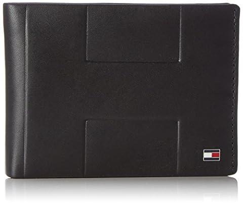 Tommy Hilfiger Herren LEATHER TH EMBOSS EXTRA CC Münzbörse Schwarz (Black)