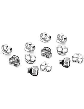 15x Paar (30) Sterling Silber Schmetterling Ohrring Rücken Scrolls Push Fit 925(5,5mm x 3mm)