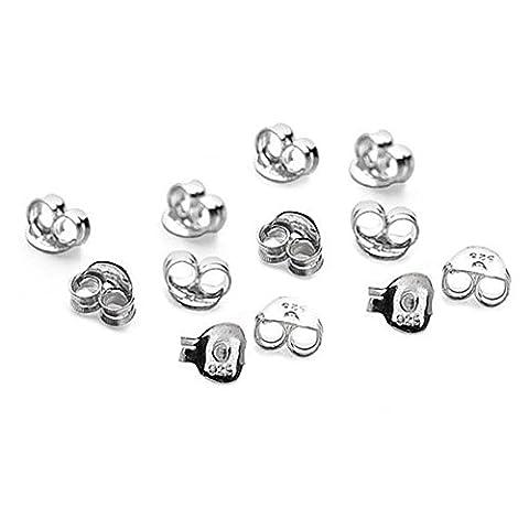 15x Paar (30) Sterling Silber Schmetterling Ohrring