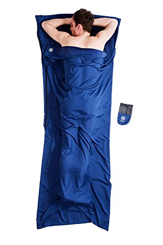 Bahidora Hüttenschlafsack mit Reißverschluss, Schlafsack Inlett. Mikrofaser Schlafsack, InlaySchlafsack, Reiseschlafsack